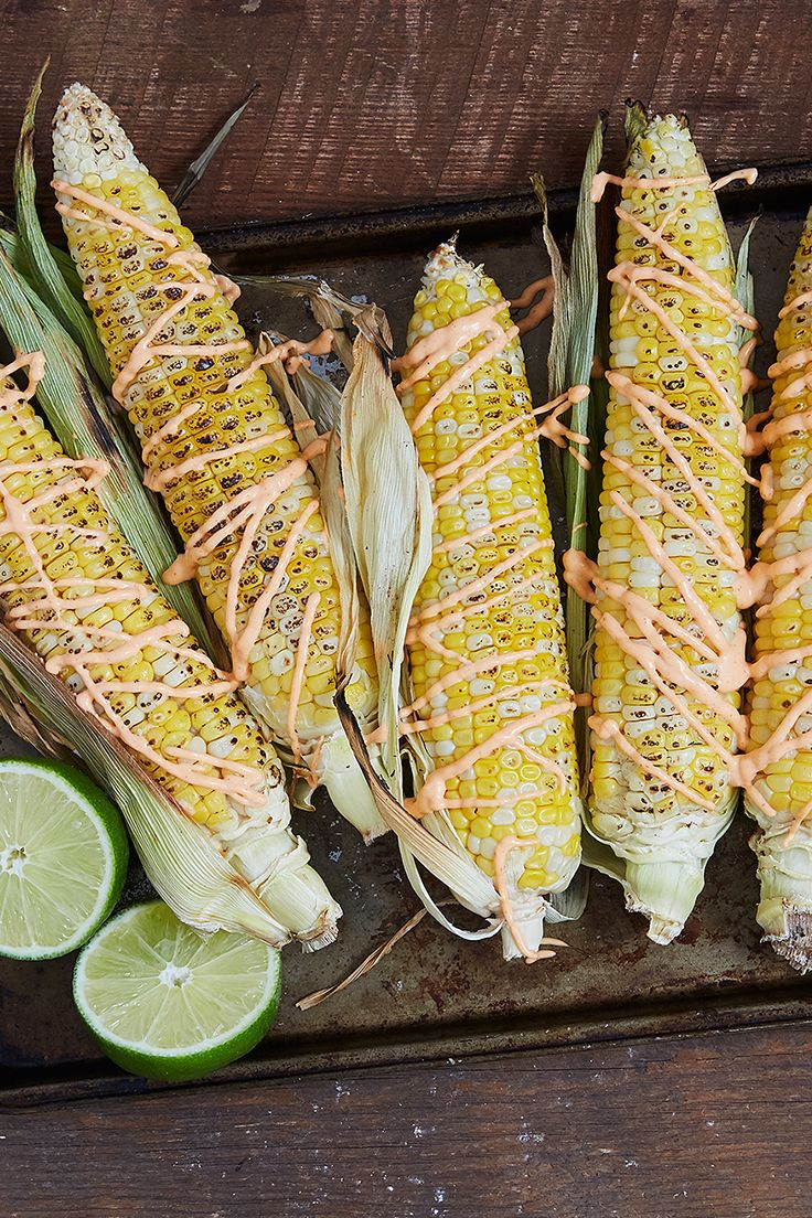 Instead of dousing ears of corn with butter and salt, grill them up and lightly drizzle them with spicy aioli sauce. — via @PureWow