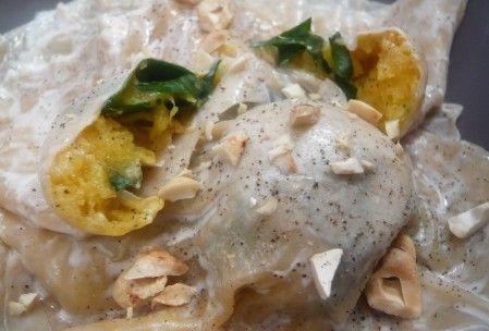 Raviolis de butternut et épinards à la noisette (vegan)