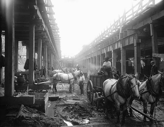 1907 Construction of Delancey Street Subway