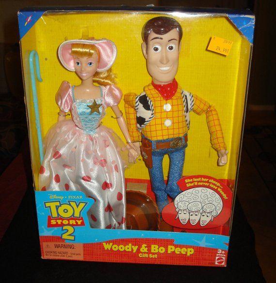 Disney Toy Story 2 Dolls Nib Woody And Bo Peep Gift Set Mattel 23785 Disney Toys Toy Story Baby Toy Story