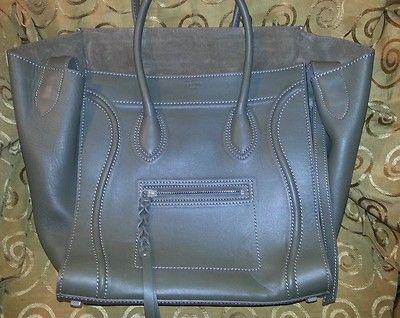 $1000.00 Celine Phantom Calfskin Leather Bag Authentic 100 | eBay ...