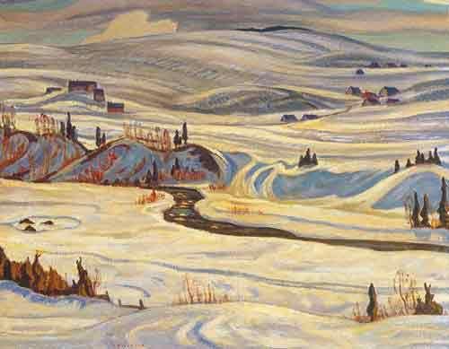 Alexander Y. Jackson,  Hillside St. Tite-des-Caps Fine Art Reproduction Oil Painting
