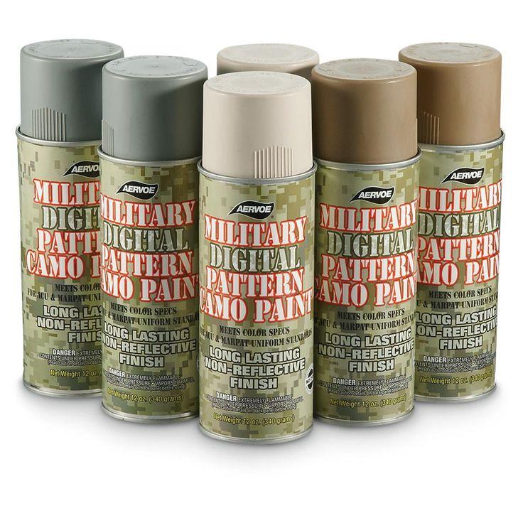 6-Pc. Digital Camo Spray Paint Kit