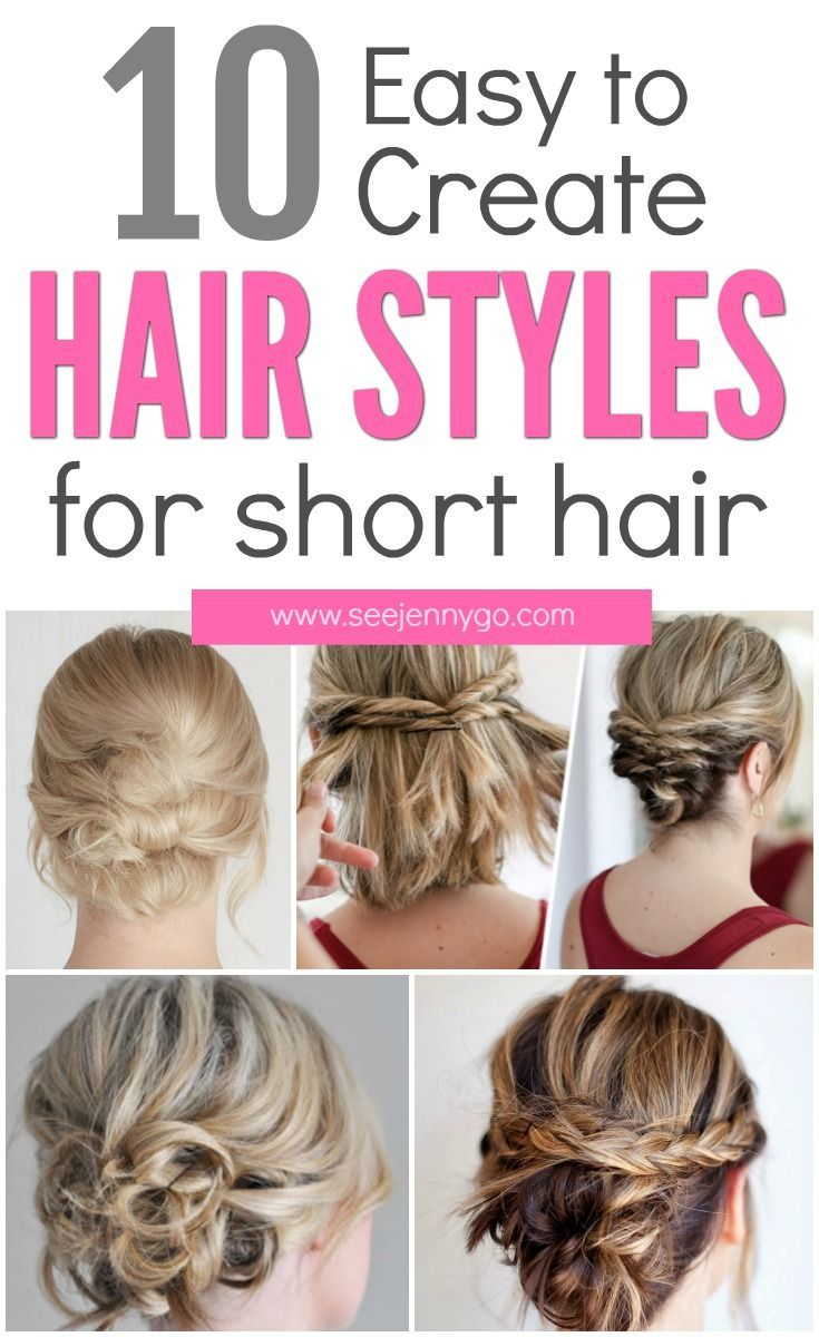 Easy updos for short to medium length hair clean beauty