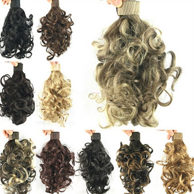 Elegant Short Curly Claw ponytail Clip in Pony Tail Hair Extension 2016 Party Style Multi Colors Hairpieces Free Shipping