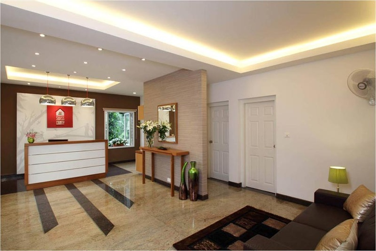 Swiss County reception  -SAVIO and RUPA Interior Concepts Bangalore   professional interior design company Bangalore   Modern Interior Designers   Residential Interior Designs