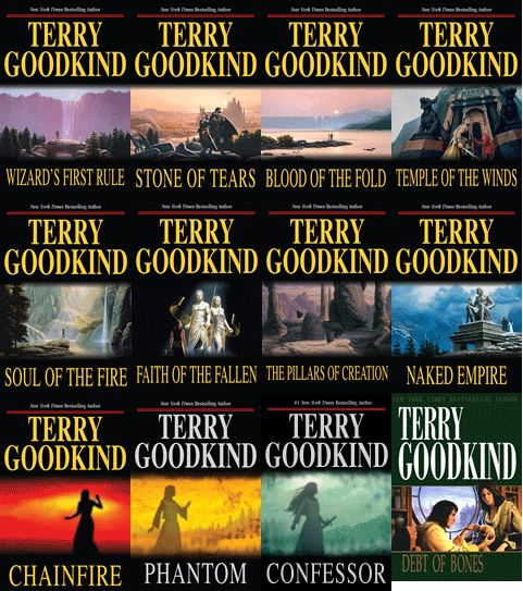 Terry Goodkind – Wizard's First Rule series.  What Legend of the Seeker was base