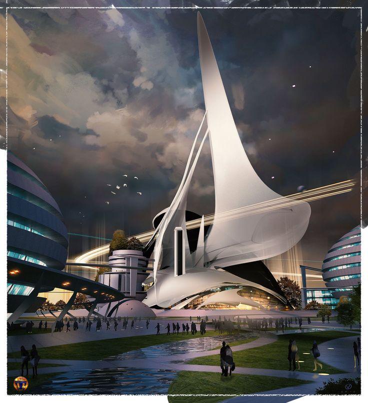 Tomorrowland movie Architectural Research, David Levy on ArtStation at https://www.artstation.com/artwork/tomorrowland-movie-architectural-research-c6482f26-c393-45df-aef4-29fbc2968ea2
