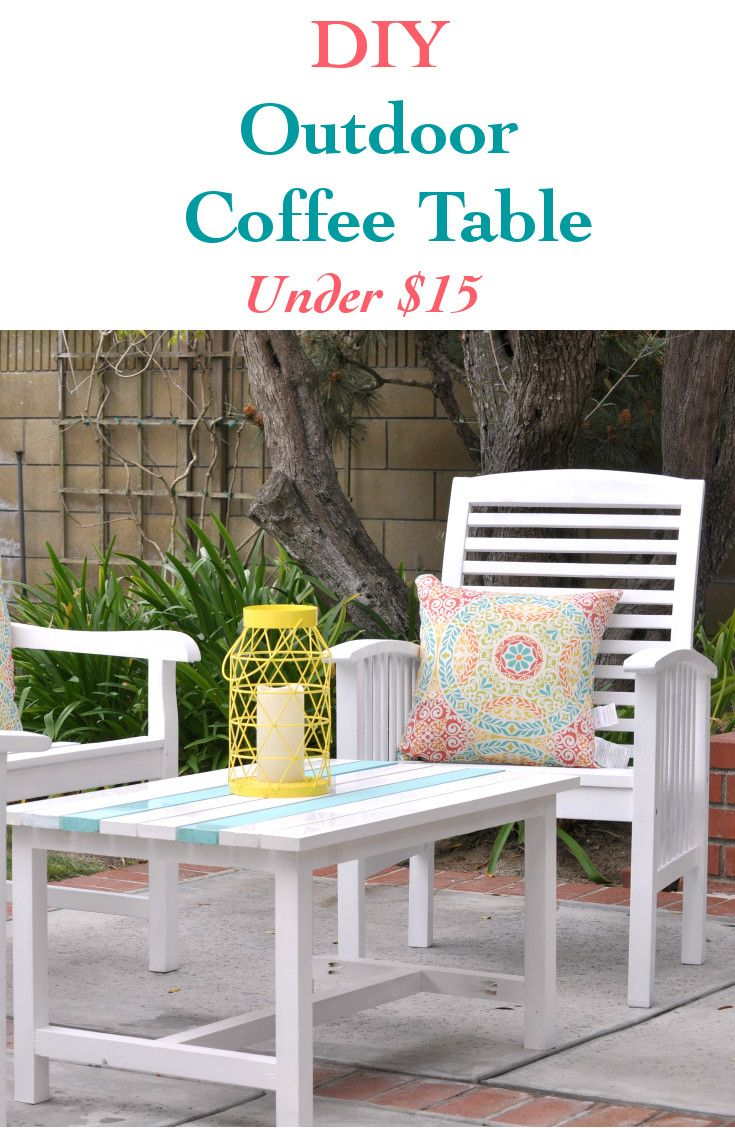 Best 25 outdoor coffee tables ideas on pinterest pallet for Build your own patio table