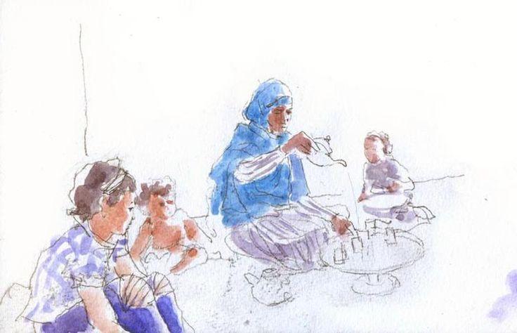 #LIBRO #ILUSTRACION #TINDOUF - Edición de un diario gráfico sobre la vida cotidiana en los campos de refugiados de Tinduf. Textos en Castellano, Inglés y Árabe. Crowdfunding Verkami: http://www.verkami.com/projects/12260-viajero-en-tindouf/blog/