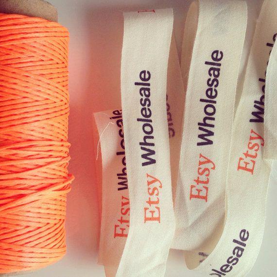 Imprimé personnalisé, rubans tissés, étiquettes tissu, votre logo sur des rubans de coton crème, ruban de satin polyester ou ruban grosgrain polyester