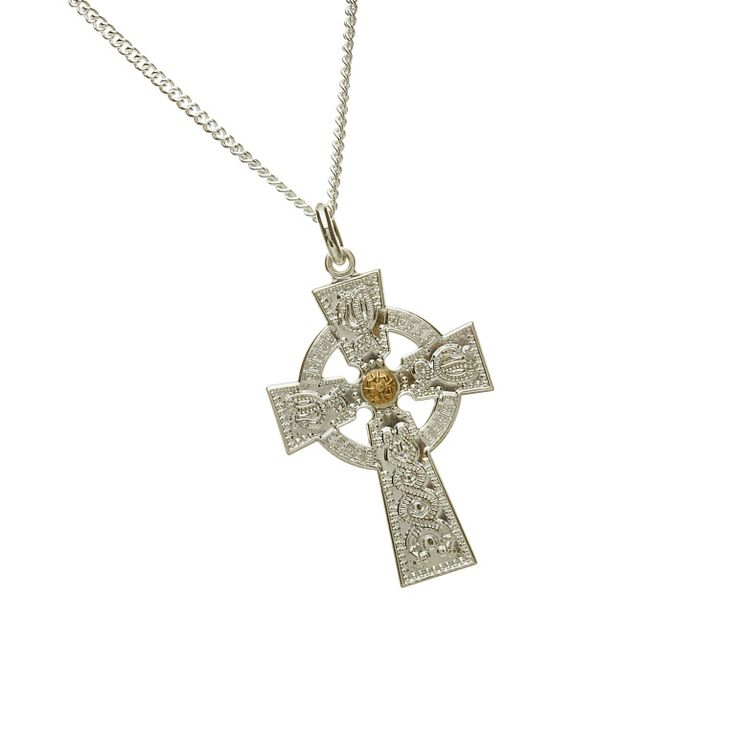 Gents Celtic Cross #houseoflor #irishjewelry #irishgold #celticcross #sterlingsilver #celticjewelry #arda #handmade