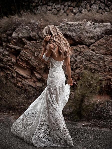 Mermaid Lace Sweetheart Elegant Bridal Long Wedding Dresses, STZ310