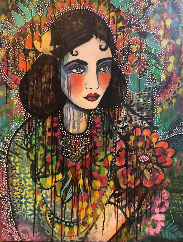 SOLD 'distant longings' by Sarah Hickey www.tuskgallery.com.au