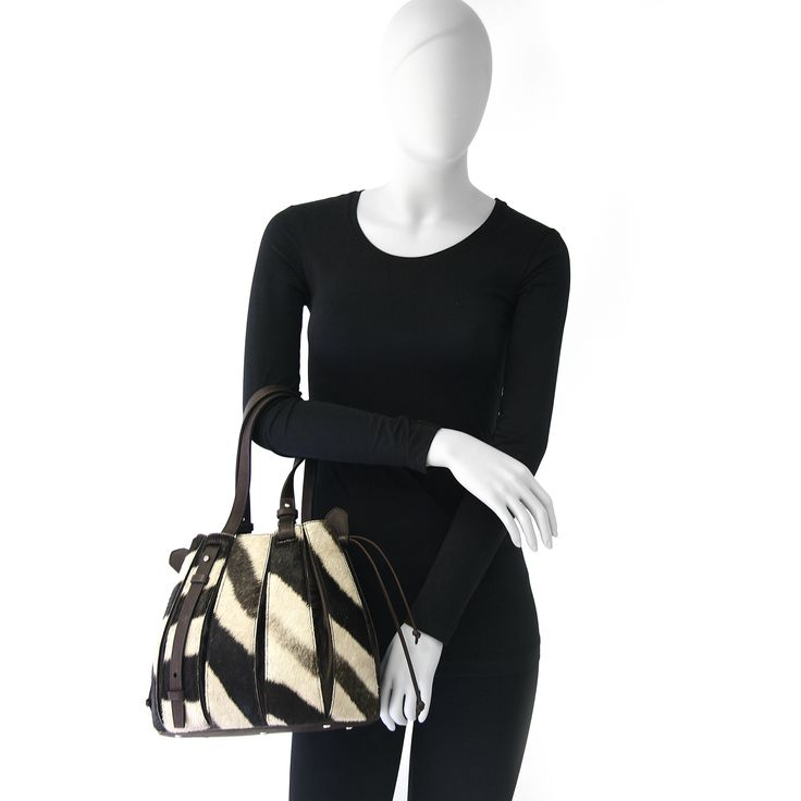 the zebra skin FERN handbag from Via Veneta