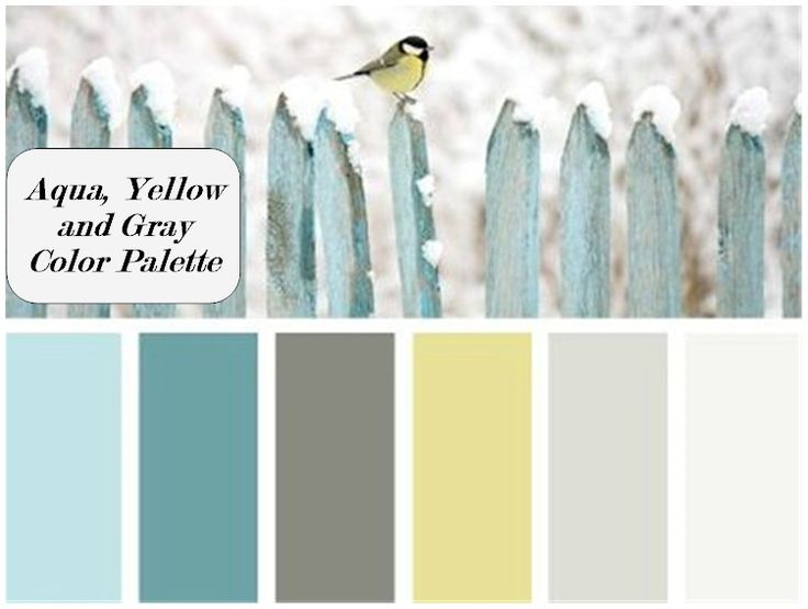 Kitchen Color Inspiration for a French country kitchen, Aqua, Yellow and Gray Color Palette