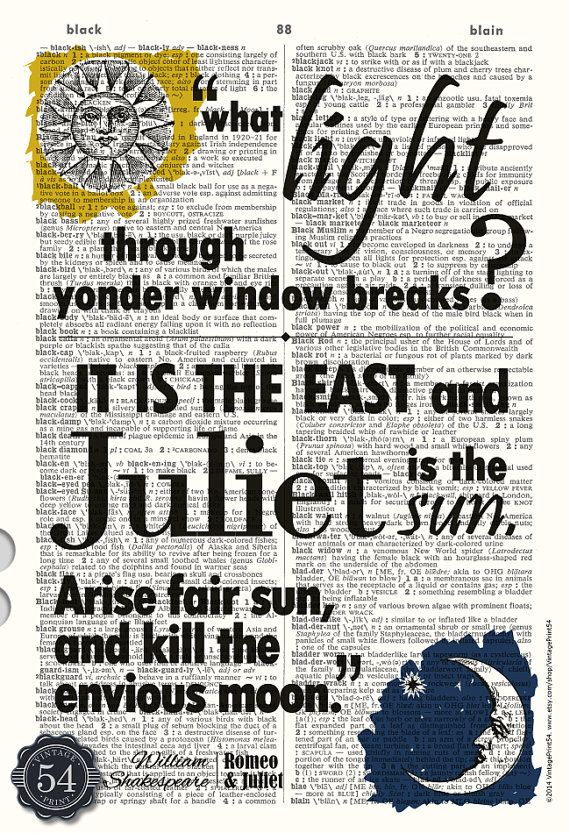 William Shakespeare Quote ROMEO AND JULIET Quote by VintagePrint54