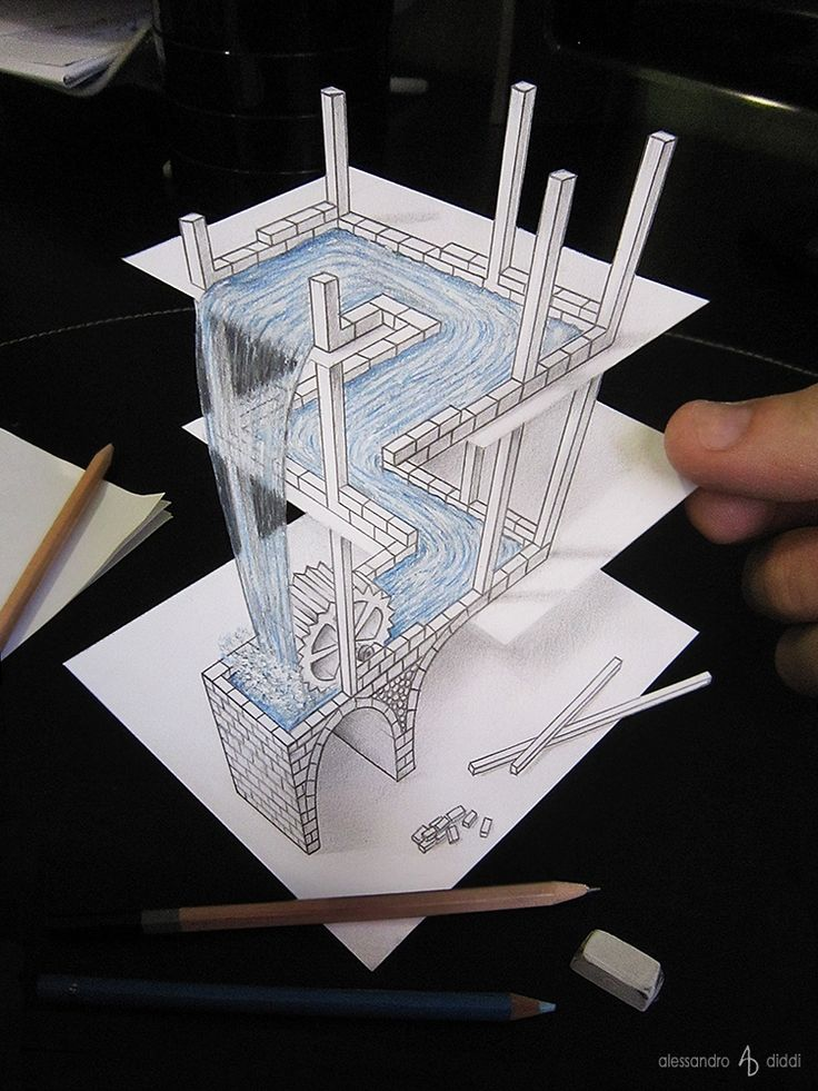 The Best Optical Illusions Drawings Ideas On Pinterest Line - Anamorphic art looks real