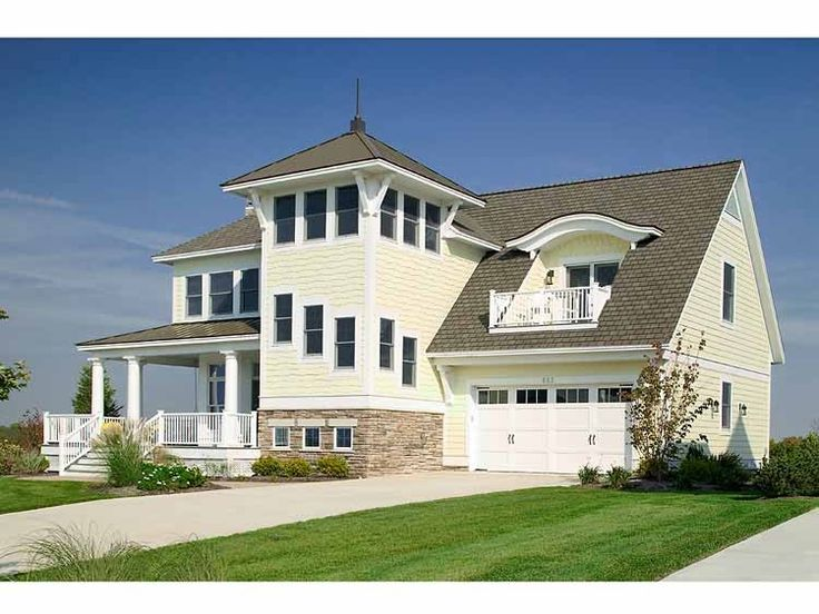 cottage house plan with 3083 square feet and 4 bedroomss from dream home - Beach House Plans With Tower