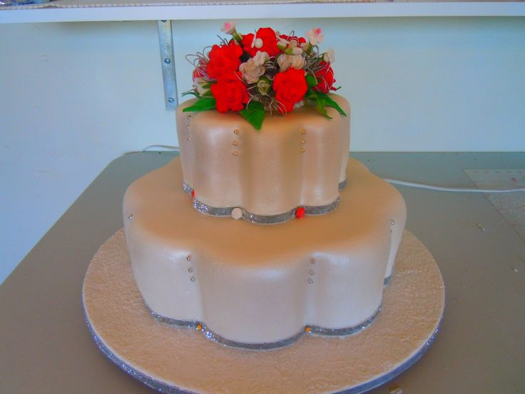 My brother in law wedding cake I made