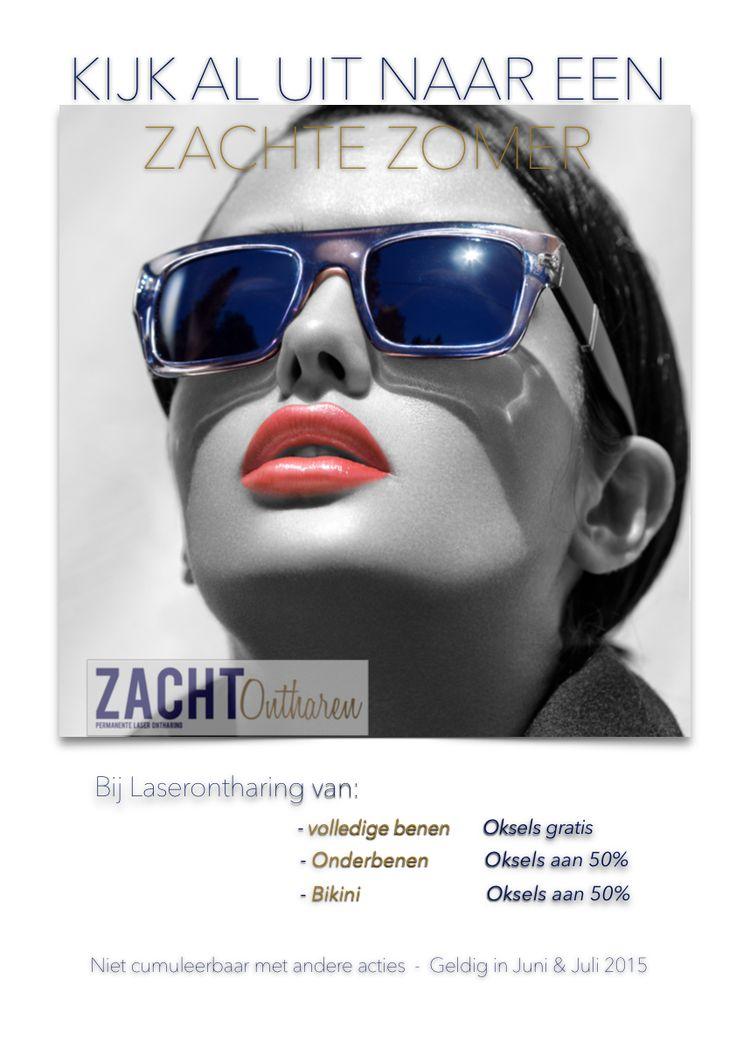 Zomeractie ZachtOntharen Oksels Gratis bij laserontharing van volledige benen ....
