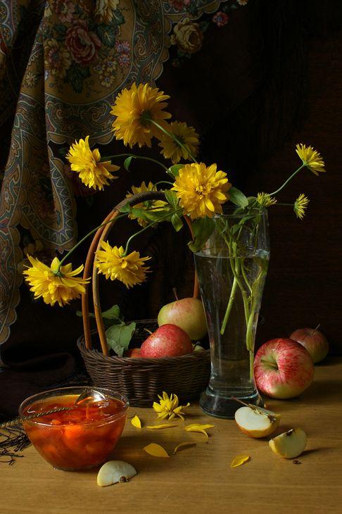 """Still Life -  """"Jam of apples"""" by Elena Kolesneva"""