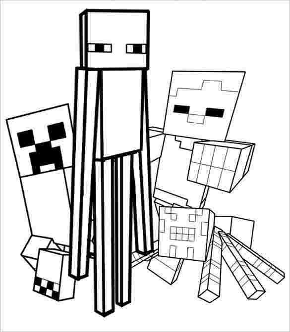 Free Minecraft Coloring Pages Halloweencoloringpages Free Minecraft Coloring Pages 9 In 2020 Minecraft Coloring Pages Halloween Coloring Pages Halloween Coloring