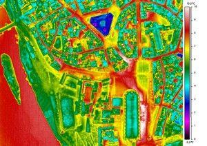 Aerial thermography: City of the Albi, France  - Thermographie aérienne de la ville d'Albi