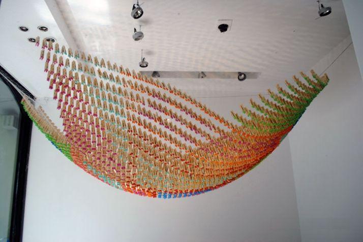 Clothespin Installation  Martin Huberman http://www.arch2o.com/clothespin-installation-martin-huberman/