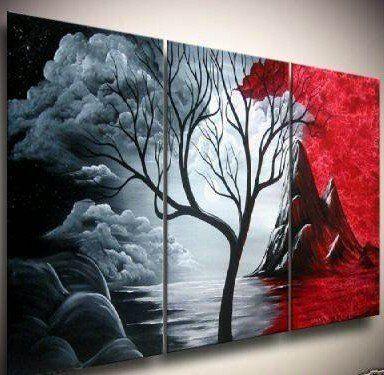 pinturas atractivas con plateado con rojo negro y blanco - Buscar con Google
