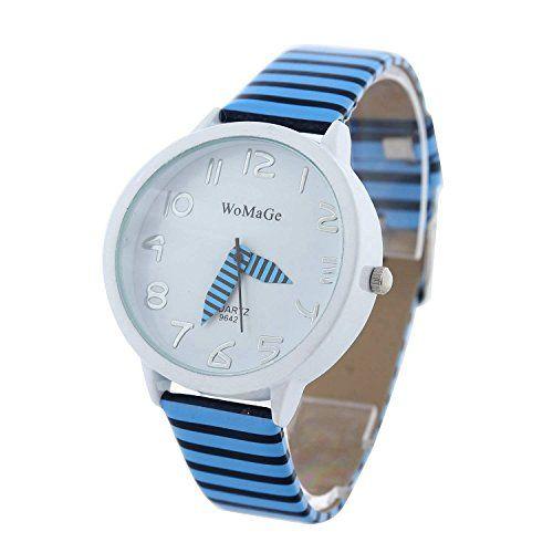 Trend YARBAR Mode l ssig Armbanduhr Quarzuhr Sport Zebrastreifen Analog Uhr Chronograph http uhr