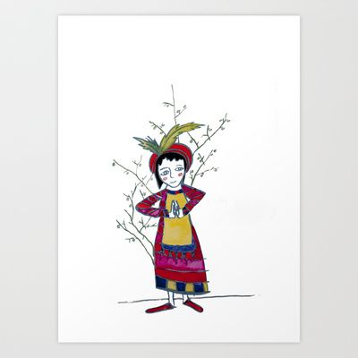 Grateful Art Print by Hayley Egan - $16.00