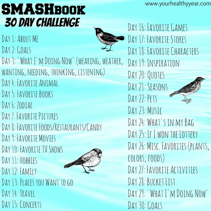 SMASH book challenge. Topic and Theme ideas for journaling and smashbook.