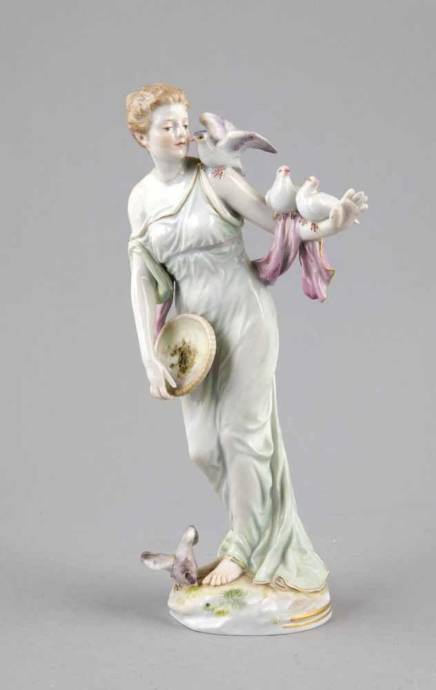 Jugendstil Figur Meissen Marke 1850 1924 1 W Madchen Tauben Futternd Modell Von Jakob Ung Meissen Figur Marke