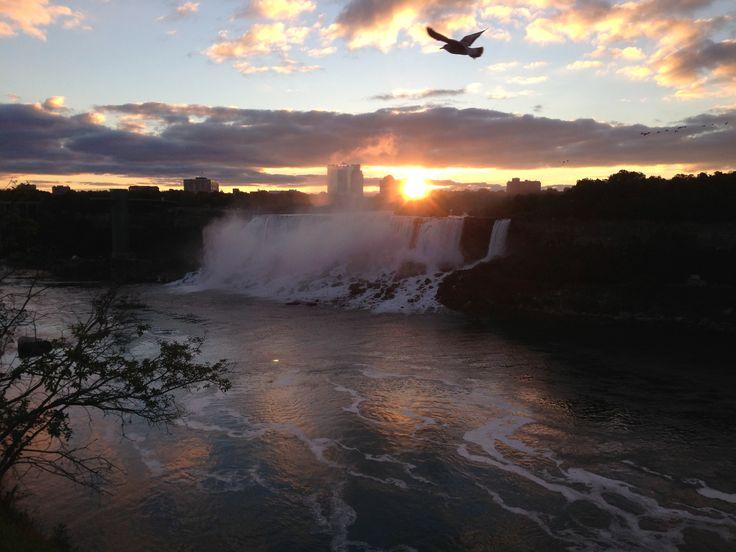 Sun rising over Niagara Falls
