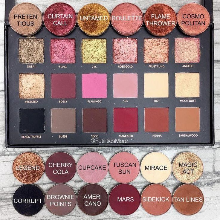 I really love this Huda Beauty palette however these eyeshadow are from makeupgeek and are dupes.