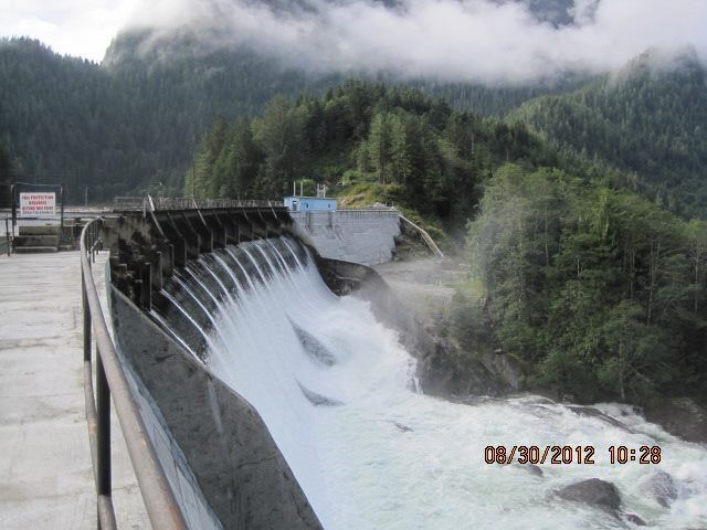 Dam gates open