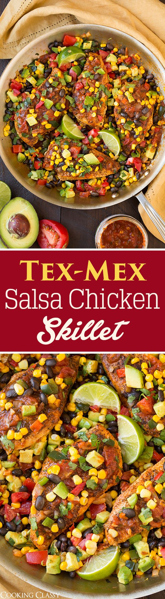 Cheesy Chicken And Salsa Skillet Recipe — Dishmaps