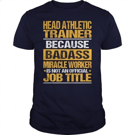 Awesome Tee For Head Athletic Trainer - #sweaters #mens zip up hoodies. CHECK PRICE => https://www.sunfrog.com/LifeStyle/Awesome-Tee-For-Head-Athletic-Trainer-133704810-Navy-Blue-Guys.html?60505