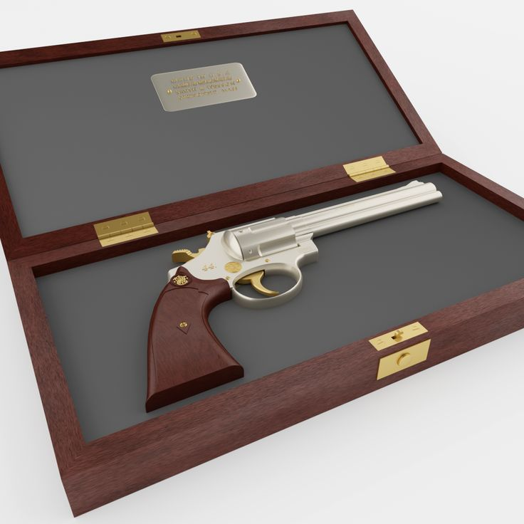 Very detailed classic revolver Smith & Wesson 3D Model.