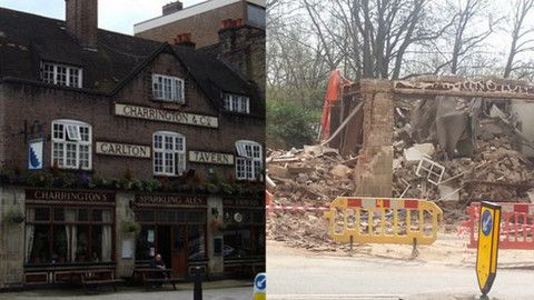 Work to rebuild 'historic' Carlton Tavern begins