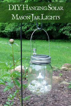 DIY Solar Mason Jar Lanterns from Dollar Tree