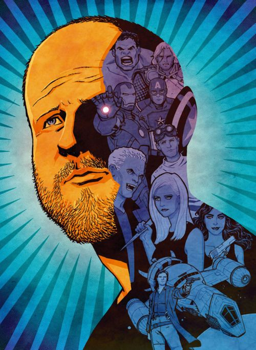 """Joss Whedon: The Geek Shall Inherit The Earth"" for GQ Magazine, May 2012. Art director: Benjamin Bours."