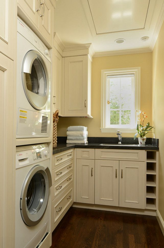 Laundry Room Design. Great Laundry Room. #LaundryRoom #HomeDecor Paint Color: sawdust 16A-3 Grand Distinction by Pittsburgh Paints
