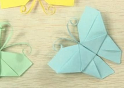 How to fold paper butterflies