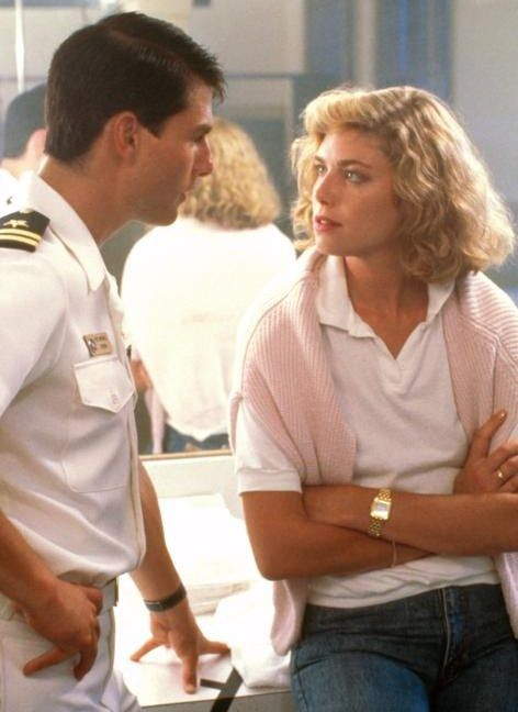 "Tom Cruise and Kelly McGillis in ""Top Gun"""