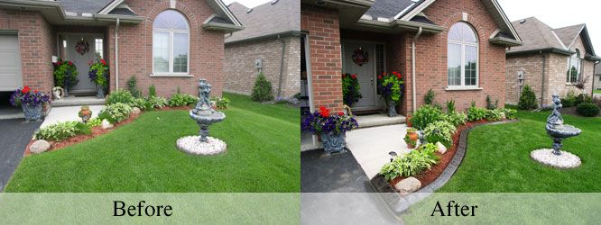 Home Landscape Curbing Before And After Landscaping Pinterest Garden Curb Eal