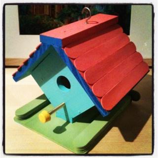 DIY bird house kit, painted