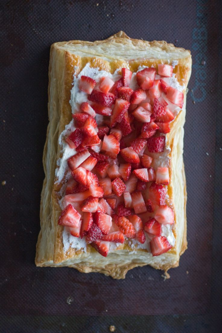 Strawberry, Mascarpone & Puff Pastry Tart | PDXfoodlove