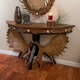 moose antler console table moose antlers sofa tables console tables